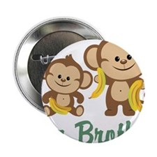 "Big Brother Monkeys 2.25"" Button (10 pack)"