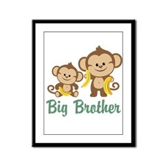 Big Brother Monkeys Framed Panel Print