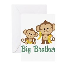 Big Brother Monkeys Greeting Cards (Pk of 20)