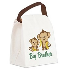 Big Brother Monkeys Canvas Lunch Bag
