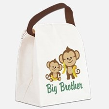 Big Brother Monkeys Canvas Lunch Bag
