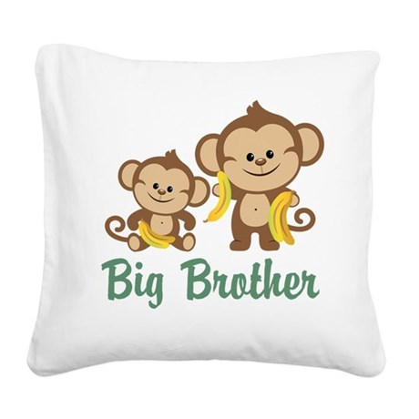 Big Brother Monkeys Square Canvas Pillow