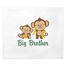 Big Brother Monkeys King Duvet