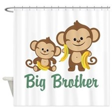 Big Brother Monkeys Shower Curtain