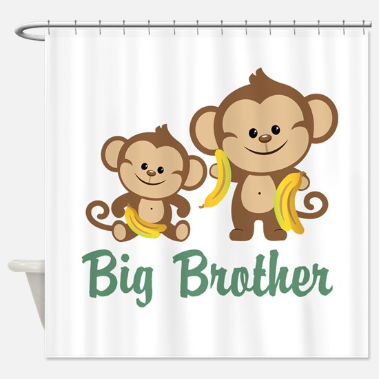 Big Brother Monkeys Shower Curtain