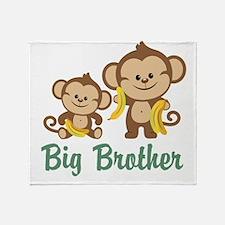 Big Brother Monkeys Throw Blanket