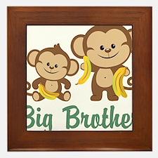 Big Brother Monkeys Framed Tile