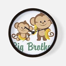 Big Brother Monkeys Wall Clock