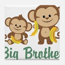 Big Brother Monkeys Tile Coaster