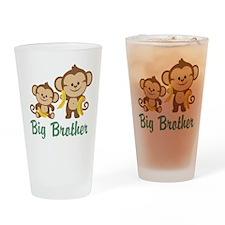 Big Brother Monkeys Drinking Glass