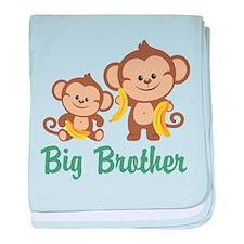 Big Brother Monkeys baby blanket