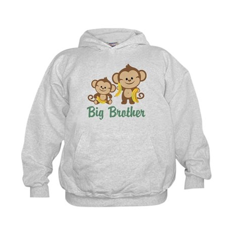 Big Brother Monkeys Kids Hoodie