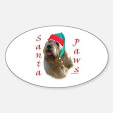 Santa Paws Otterhound Oval Decal