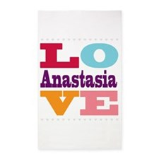 I Love Anastasia 3'x5' Area Rug