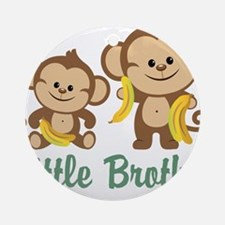 Little Brother To Be Monkey Ornament (Round)