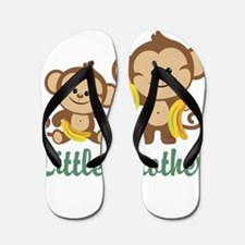 Little Brother To Be Monkey Flip Flops