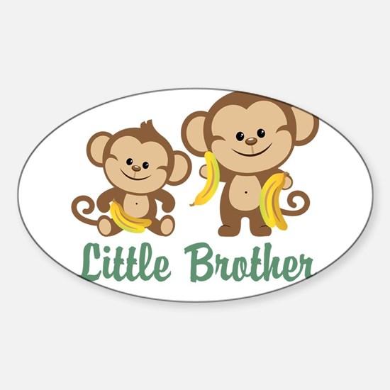 Little Brother To Be Monkey Sticker (Oval)