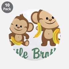 "Little Brother To Be Monkey 3.5"" Button (10 pack)"
