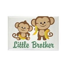 Little Brother To Be Monkey Rectangle Magnet (10 p