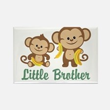 Little Brother To Be Monkey Rectangle Magnet