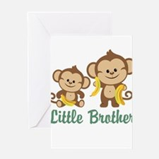Little Brother To Be Monkey Greeting Card