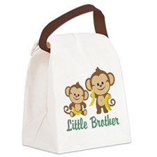 Little Brother To Be Monkey Canvas Lunch Bag
