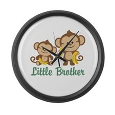Little Brother To Be Monkey Large Wall Clock