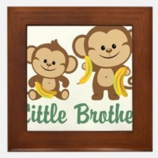 Little Brother To Be Monkey Framed Tile