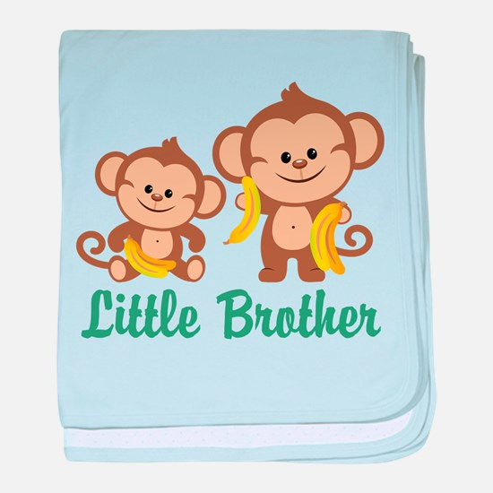 Little Brother To Be Monkey baby blanket
