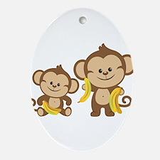 Little Monkeys Ornament (Oval)
