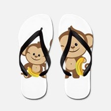 Little Monkeys Flip Flops