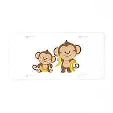Little Monkeys Aluminum License Plate