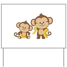 Little Monkeys Yard Sign