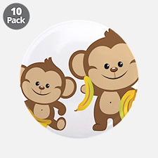 "Little Monkeys 3.5"" Button (10 pack)"