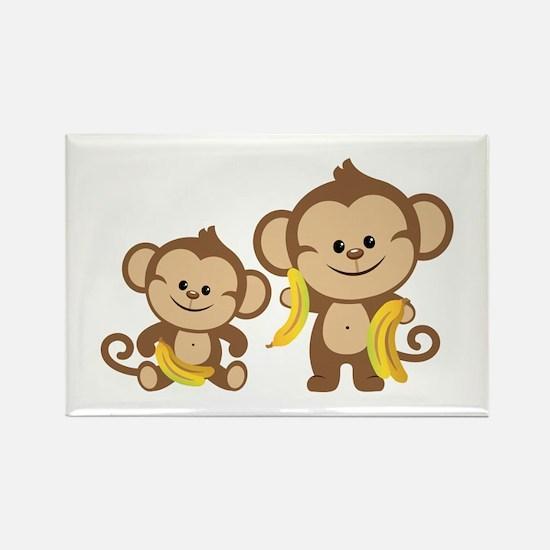 Little Monkeys Rectangle Magnet