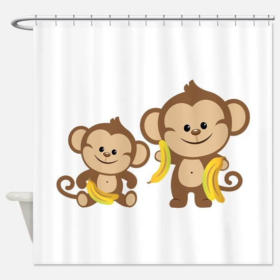Little Monkeys Shower Curtain
