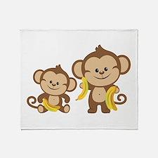 Little Monkeys Throw Blanket