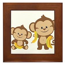 Little Monkeys Framed Tile