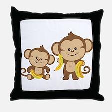 Little Monkeys Throw Pillow