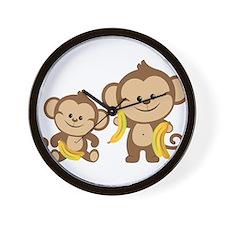 Little Monkeys Wall Clock