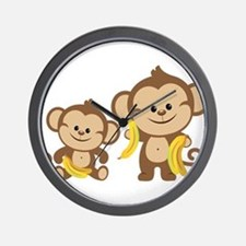 Little Monkeys Wall Clock