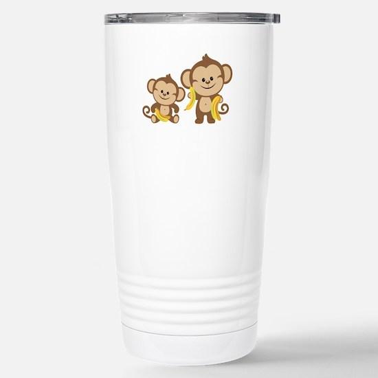 Little Monkeys Stainless Steel Travel Mug