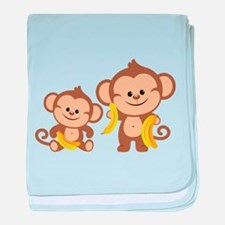 Little Monkeys baby blanket