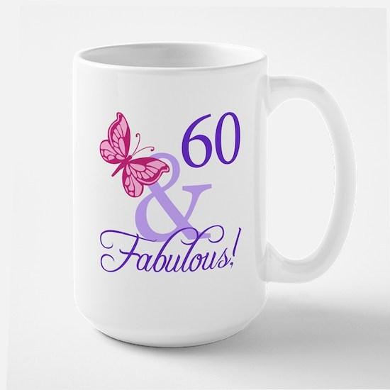 60 And Fabulous Large Mug