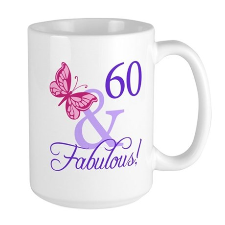 60 And Fabulous Large Mug