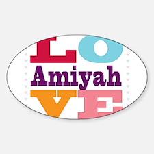 I Love Amiyah Decal