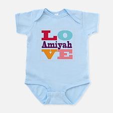 I Love Amiyah Infant Bodysuit