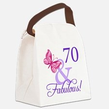 70 And Fabulous Canvas Lunch Bag