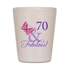 70 And Fabulous Shot Glass