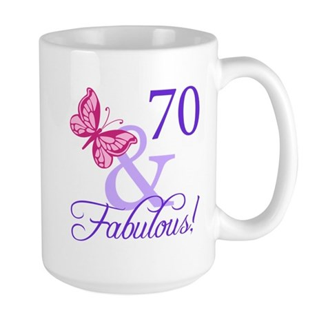 70 And Fabulous Large Mug